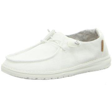 Hey Dude Shoes Mokassin SchnürschuhWendy Chambray weiß