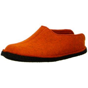 Haflinger HausschuhFlair Smily orange