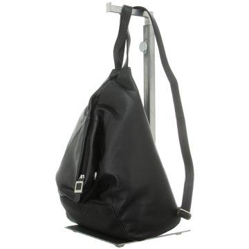 Voi Leather Design Taschen DamenRucksack schwarz