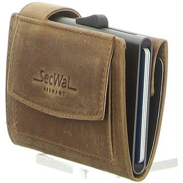 SecWal Geldbörsen & Etuis braun