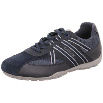 Geox Sportlicher Schnürschuh blau