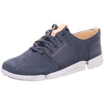Clarks Sportlicher SchnürschuhSneaker blau