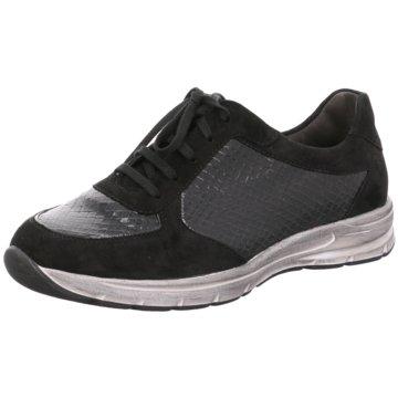 Semler Sportlicher Schnürschuh schwarz