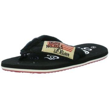 s.Oliver Offene Schuhe schwarz