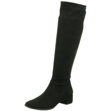 Stiefel von Tamaris, schwarz, Leder, Schaft aus Wildleder, Gr. 40