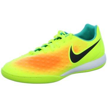 Nike Hallen-SohleMagistaX Onda II IC Fußball Hallenschuhe Herren türkis/gelb gelb