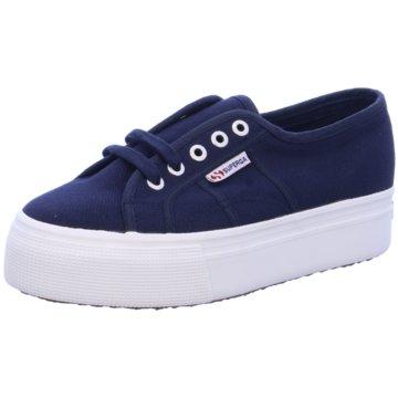 Superga Plateau Sneaker blau