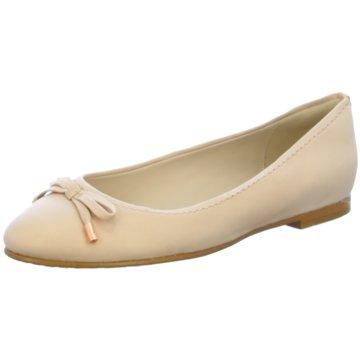 Clarks Eleganter Ballerina beige