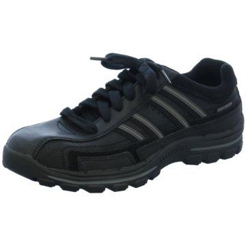 Skechers Klassischer Schnürschuh schwarz