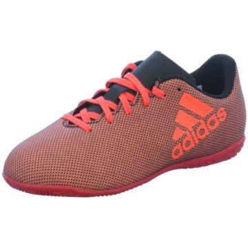 adidas Trainings- und HallenschuhX 17.4 Indoor Kinder Fußball Hallenschuhe rot schwarz orange