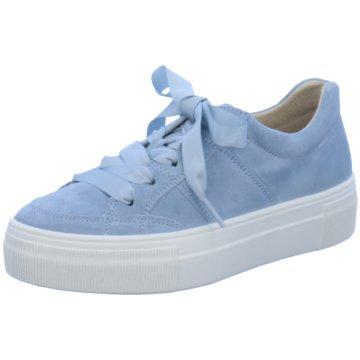 Legero Plateau Sneaker blau