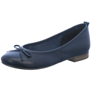 Tamaris Klassischer Ballerina blau