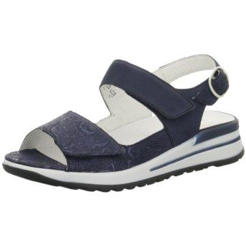 Waldläufer Komfort Schuh blau
