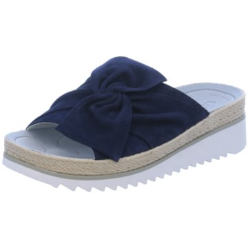 Gabor Espadrilles Pantoletten blau