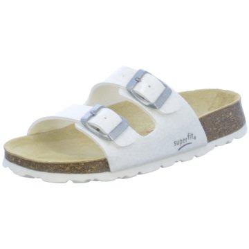 Superfit Offene Schuhe weiß