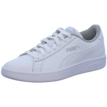 Puma Sneaker Low SMASH V2 L JR - 365170 weiß