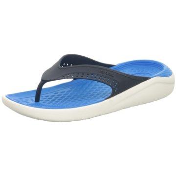 CROCS Bade-Zehentrenner blau