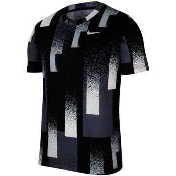 Nike T-ShirtsNikeCourt Dri-FIT Men's Printed Tennis Top - CK9820-010 schwarz
