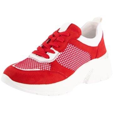 Remonte Sportlicher Schnürschuh rot