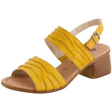 Remonte Komfort Sandale gelb