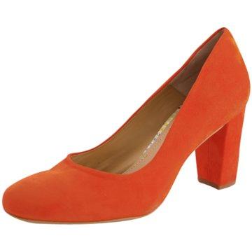 Perlato Klassischer Pumps orange
