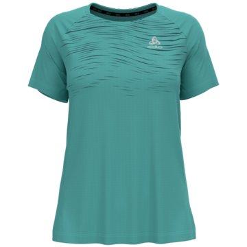 ODLO T-ShirtsT-SHIRT S/S CREW NECK ESSENTIA - 313401 grün