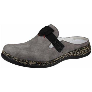 Rieker Komfort Pantolette grau