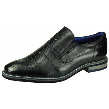 Bugatti Klassischer Slipper schwarz