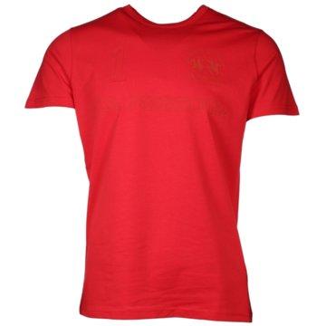 La Martina T-Shirts basic rot