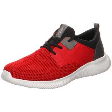 Rieker Sportlicher Schnürschuh rot