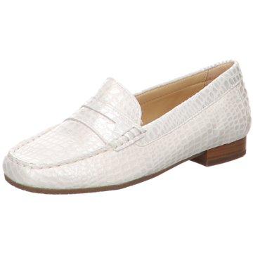 Sioux Klassischer Slipper weiß