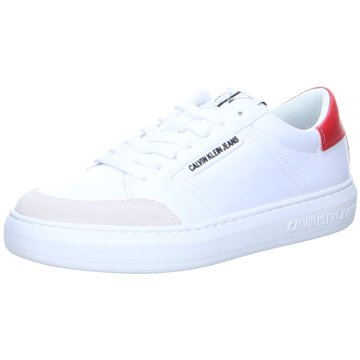 Calvin Klein Sneaker LowCupsole Sneaker Lace Up PU-NY weiß