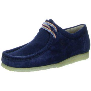 Sioux Komfort Mokassin blau
