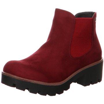 Rieker Plateau StiefeletteChelsea Boots rot