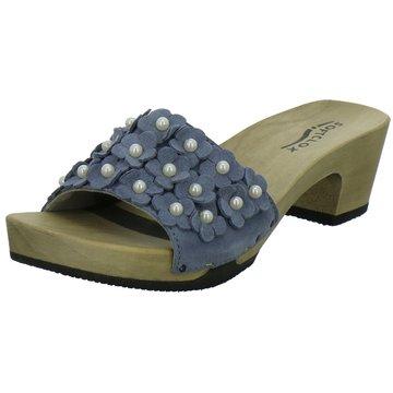 Softclox Plateau Pantolette blau