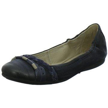 Mjus Klassischer Ballerina blau