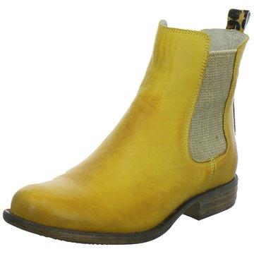 nett Popps, Damen Stiefel & Stiefeletten Gelb senfgelb, Gelb