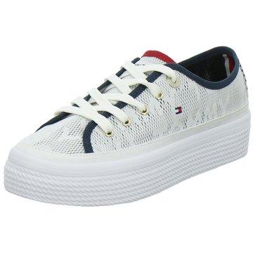 Tommy Hilfiger Plateau Sneaker weiß