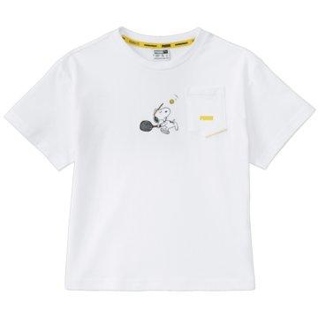 Puma T-Shirts X PEANUTS TEE G - 599458 weiß