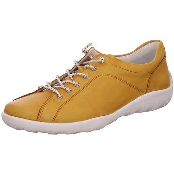 Remonte Komfort Schnürschuh gelb