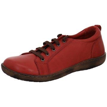 Andrea Conti Komfort Schnürschuh rot