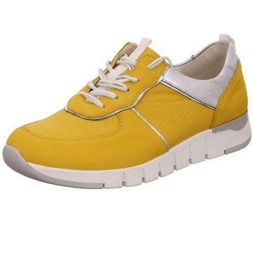 Waldläufer Komfort Schnürschuh gelb