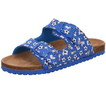 Indigo Pantolette blau