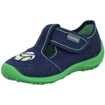 Fischer Schuhe HausschuhFußball blau