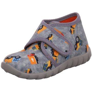 Fischer Schuhe HausschuhBaustelle grau