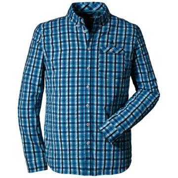 Schöffel Langarmhemden blau