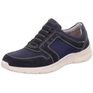 2 Steps Casual Sportlicher Schnürschuh blau