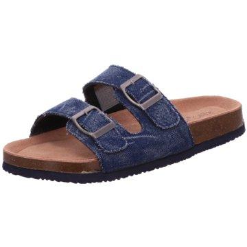 Bio Rock Komfort Pantolette blau