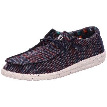 Hey Dude Shoes Mokassin Slipper blau
