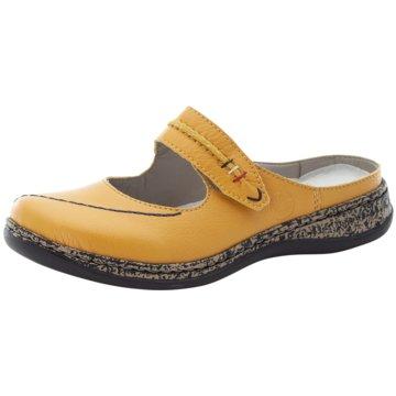 Rieker Komfort Pantolette gelb